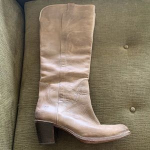 Taupe/grey Tall Frye Boots